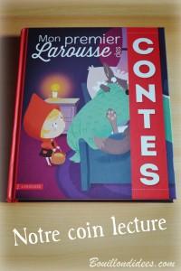 Livre Coin lecture Mon premier Larousse des contes chut les enfants lisent Bouillondidees