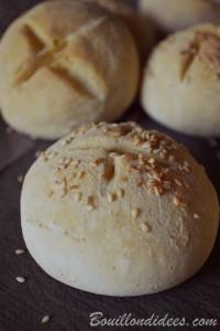 Petits pains blancs rapides et sans gluten mie rond Bouillondidees