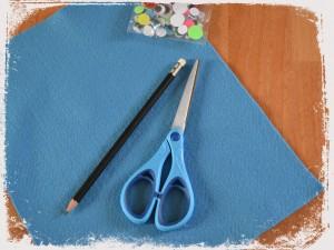 DIY Rentrée Customiser vos crayons bonhomme tête en feutrine matériel Bouillondidees