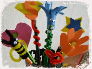 DIY Rentrée Customiser vos crayons embouts Bouillondidees