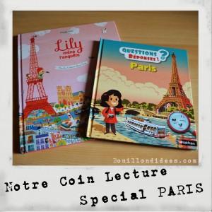 Livre Coin lecture spécial Paris (Lily et questions et réponses Nathan) chut les enfants lisent Bouillondidees