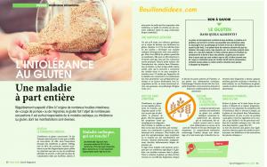 Revue Presse HS Santé Mangazine Intolérances gluten lait 2 Bouillondidees