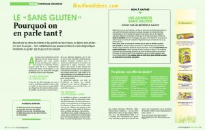Revue Presse HS Santé Managzine Intolérances gluten lait 3 Bouillondidees
