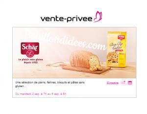 Vente privée produits sans gluten Schär Bouillondidees