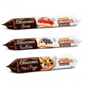 Croustipate, pâte brisée, feuilletée, pizza, sans gluten sans lactose - sans GLo