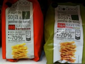 Chips sans gluten & cie : Too Good à base de soja et de pommes de terre,