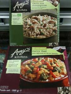 Plats surgelés sans GLO, sans gluten Amy's Kitchen