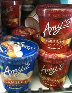 Glaces sans gluten Amy's Kitchen