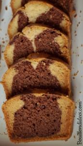 Marbré choco vanille sans GLO (sans gluten, sans lait, sans oeuf) Tranches Bouillondidees