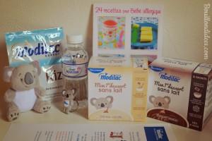 """Nouveautés Modilac """"mon premier dessert sans lait"""" bébés intolérants ou allergiques IPLV APLV Bouillondidees"""