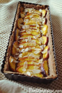 Tarte aux fruits express sans GLO peches poires Bouillondidees