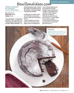 magazine Hors Serie Régal sans gluten - recette gateau moelleux choco sans GLO