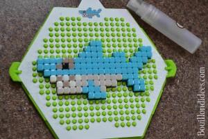 Test Qixels perles repasser vapo eau Bouillondidees