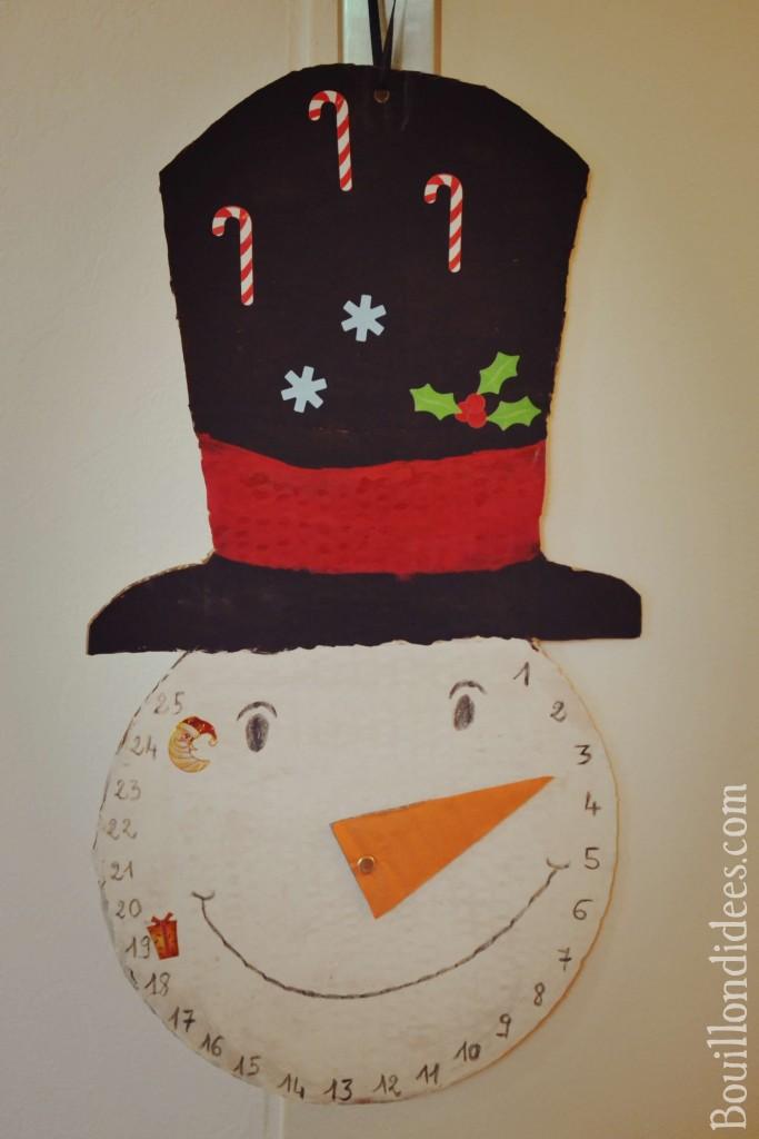 calendrier bonhomme de neige de l'avent DIY noël 2 Bouillondidees