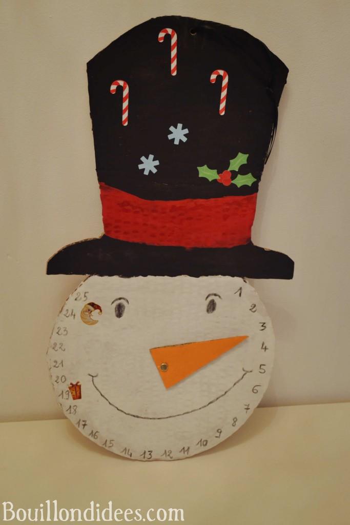calendrier de l'avent - bonhomme de neige (DIY Noël)