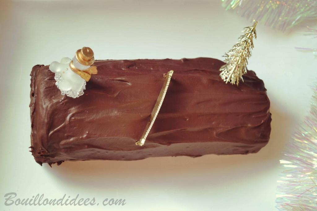 Bûche de Noël roulé chocolat sans GLO (sans gluten, sans lait, PLV, Lactose, sans oeuf) 2 Bouillondidees