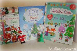Idées lecture Cahiers d'activités pour attendre Noël Bouillondidees