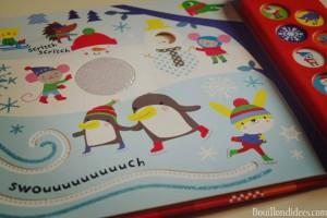 Idées lecture pour attendre Noël livre musical Avec mon doigt Noël Usborne Bouillondidees