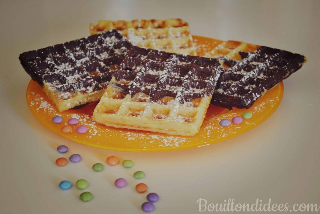 gaufres marbrées choco-vanille sans GLO (sans gluten, sans lait, sans oeuf) Bouillondidees