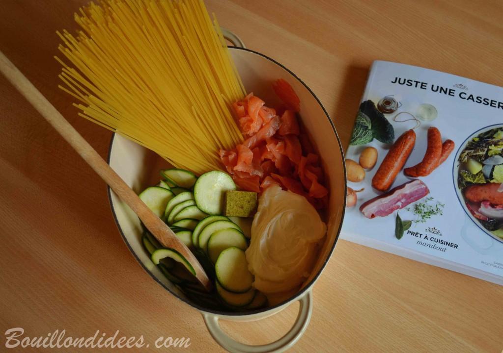 One pot Pasta Saumon courgette sans GLO (sans Gluten, sans lait) Bouillondidees