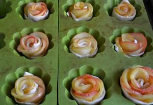 Roses feuilletées aux pommes (tartelettes avec ou sans gluten sans PLV sans Lactose) Bouillondidees2