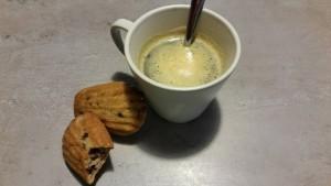 les madeleines sans GLO (sans Gluten, sans Lait, sans œuf) aux pépites de chocolat de marie g