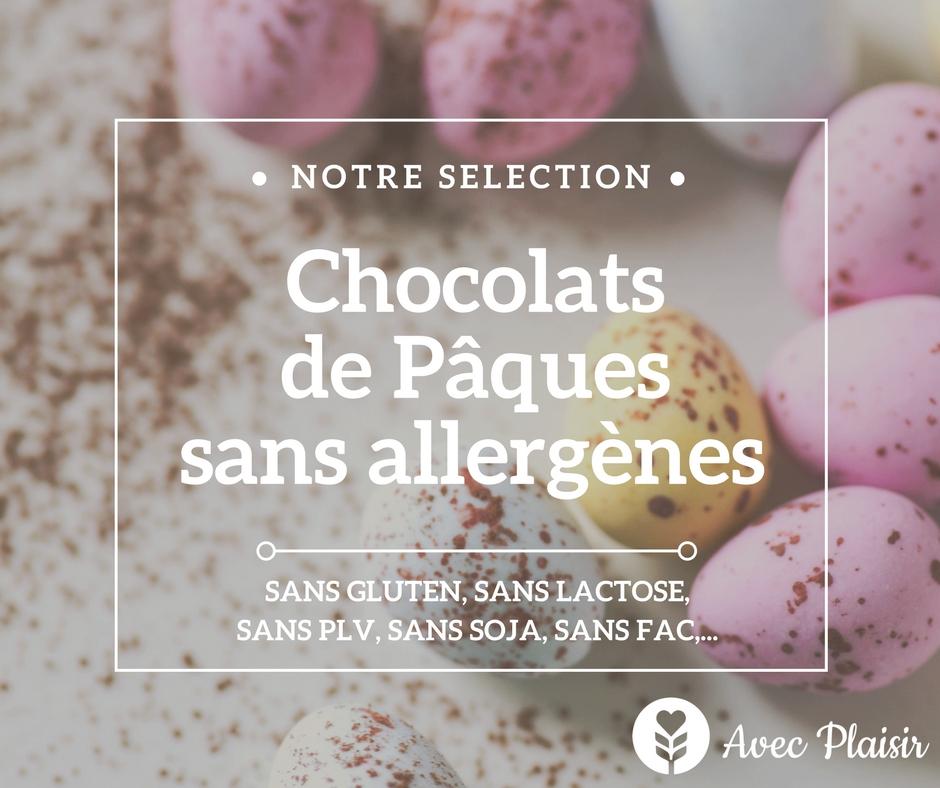 chocolats de Pâques sans allergènes Avec Plaisir