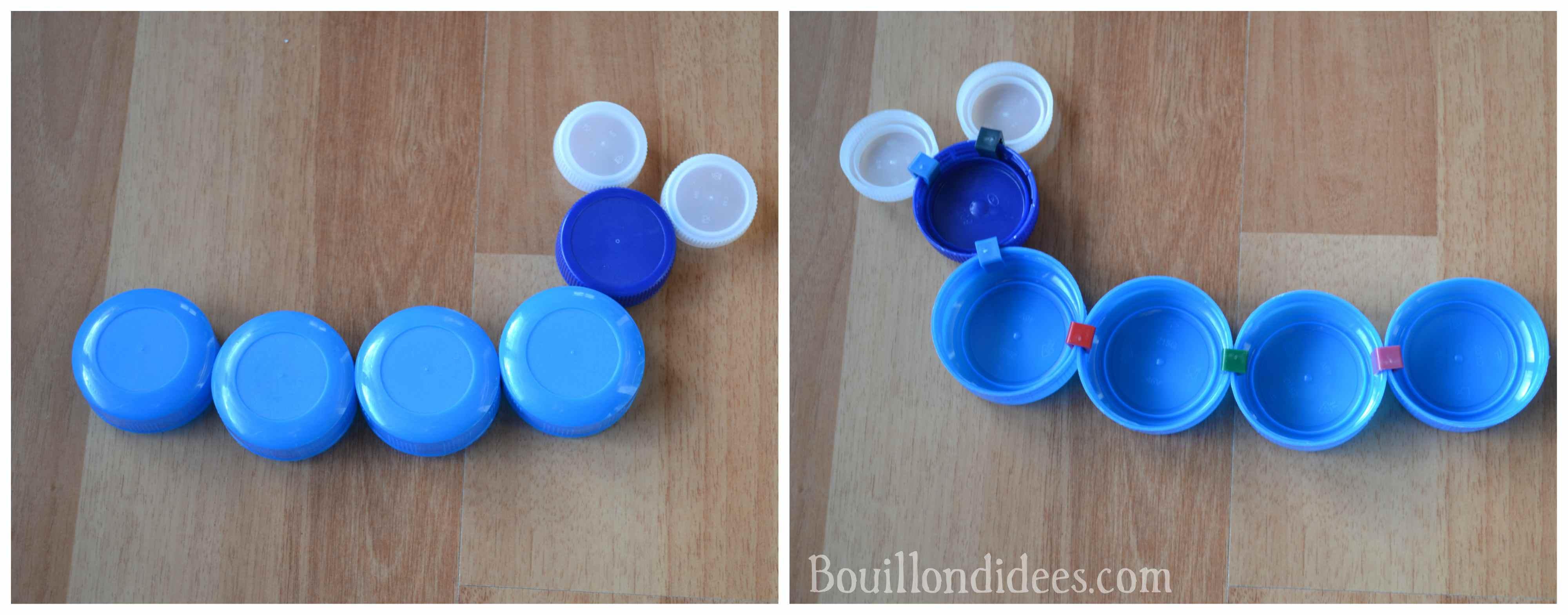 Clip it un jeu cr atif colo et conomique avec les bouchons en plastique - Creation avec des bouchons ...