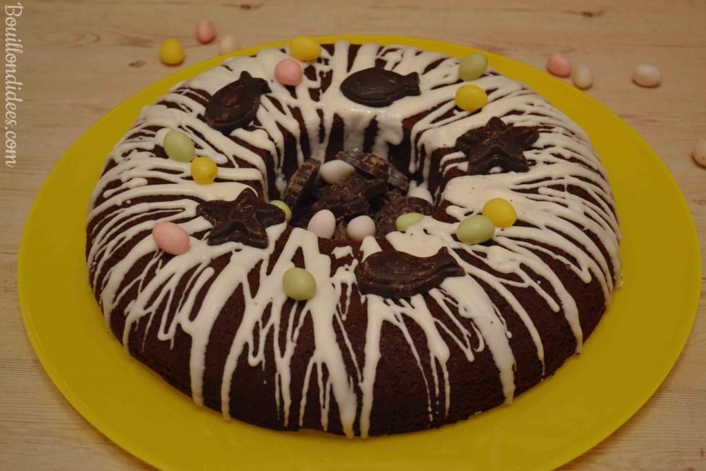 Nid de paques, gateau chocolat Pâques sans GLO (sans gluten sans lait - sans PLV sans lactose- , sans oeuf) Bouillondidees