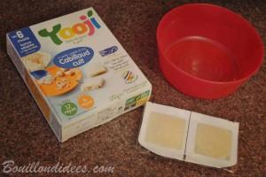 Yooji alimentation bébé sans gluten, sans PLV bio diversification viande Bouillondidees