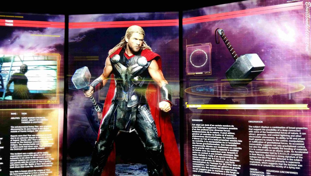 Marvel Avengers Station exposition La Defense Paris 2016 thor