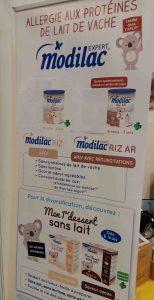 coup de coeur SAAPS (salon des allergies alimentaires et produits sans) Modilac sans lait riz