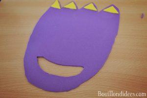 DIY fabriquer des pieds de monstres ou dinosaures (brico enfant, anniversaire, carnaval, halloween) avec feuilles de mousse pas a pas
