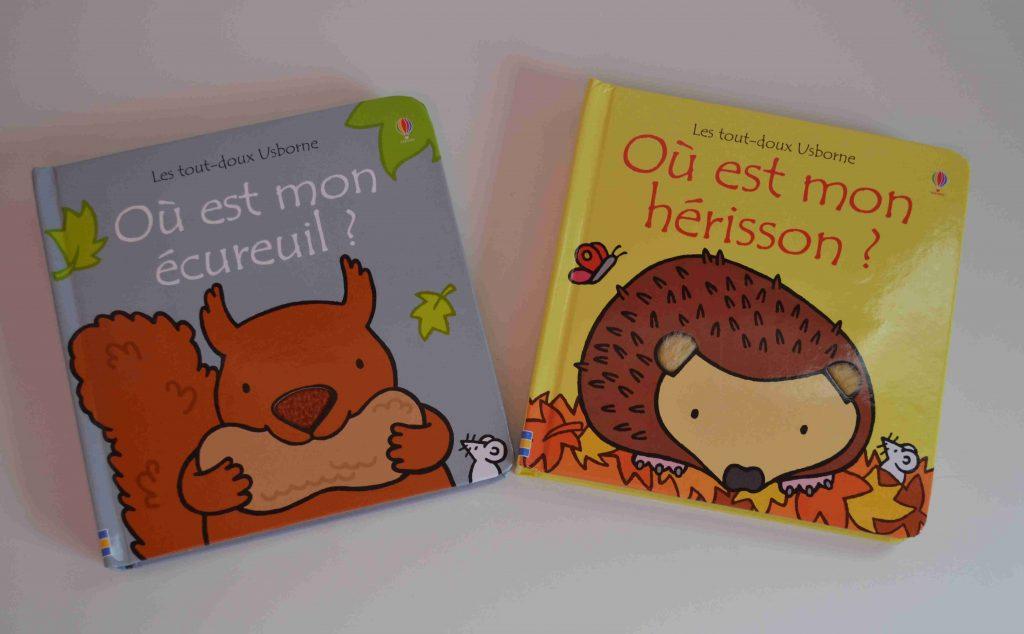 Livres à toucher premiers livres bébé   Où est mon écureuil (éditions Usborne) Bouillondidees