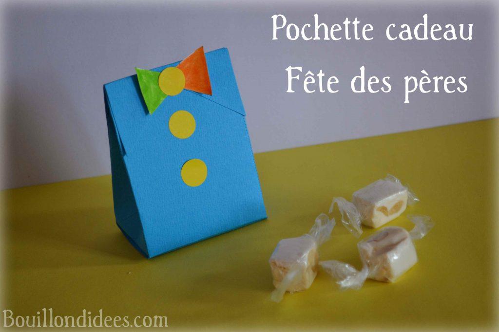 Fête des pères DIY pochette cadeau cravate noeud papillon Bouillondidees