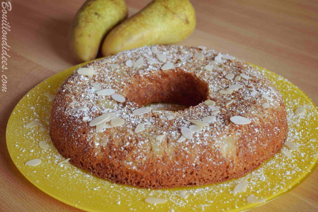 Moelleux aux poires à l'huile de coco - sans GLO (sans gluten, sans lait - sans PLV sans lactose, sans oeuf) & vegan