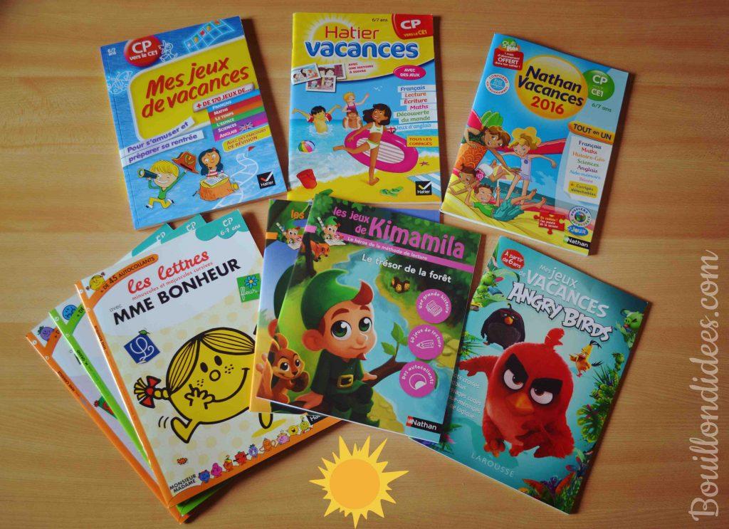 Cahiers de devoirs et d'activités pour les vacances 6-7 ans CP Ce1 Bouillondidees