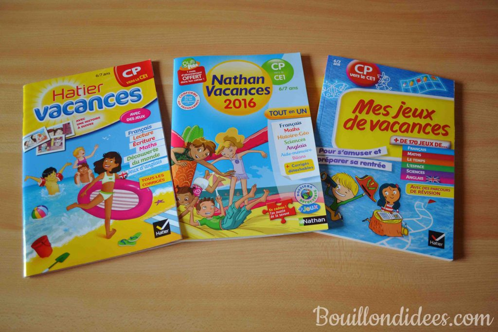 Cahiers de vacances 6-7 ans CP Ce1 (Hatier Nathan) Bouillondidees