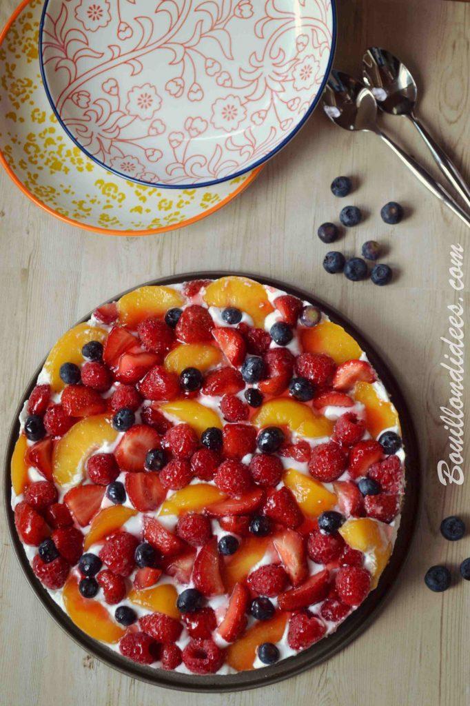 Génoise Tutti Frutti sans GLO (sans gluten, sans lait et sans œuf) vegan Bouillondidees