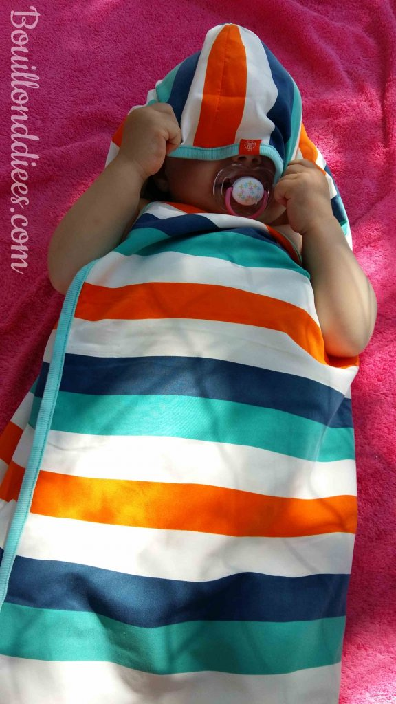 Profiter été avec bébé baignade Cap de bain serviette à capuche Lassig Bouillondidees