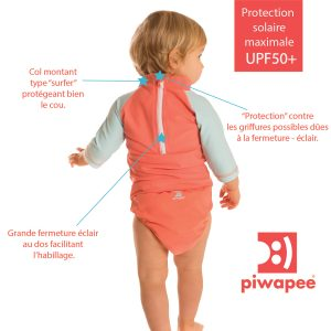 Profiter du soleil avec bébé Top anti UV Piwapee Bouillondidees