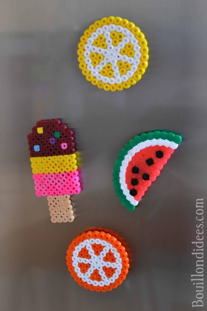 DIY fabriquer des magnets en perles à repasser HAMA pour le frigo (Bouillondidees)