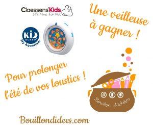 Veilleuse bébé My aquarium Claessens'Kids Bouillondidees Concours