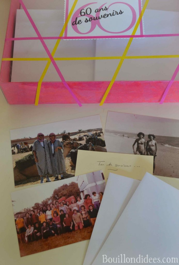 Offrir une bo te souvenirs pour les 60 ans id e de cadeau personnalis - Cadeau pour 60 ans de mariage ...