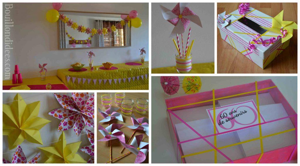 Réaliser une déco de fête aux couleurs d'été (DIY guirlande étoiles et moulin à vent en papier)