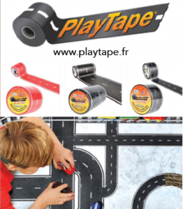 "Le Play Tape, le Masking Tape version ""route et voie ferrée"""