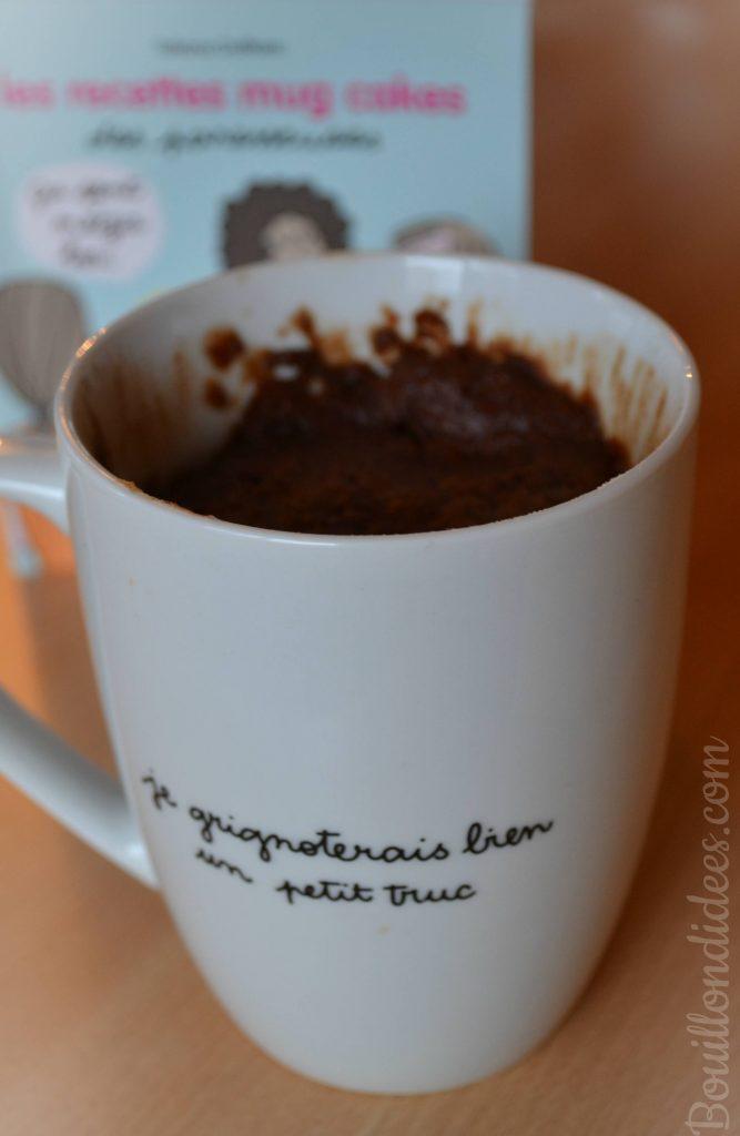 Mug cake chocolat noisette sans GLO (sans gluten, sans lait, sans oeuf) vegan (Les paresseuses) Bouillondidees