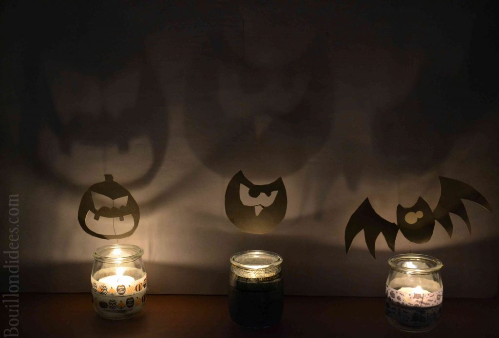 DIY Photophores d'Halloween aux ombres monstrueuses