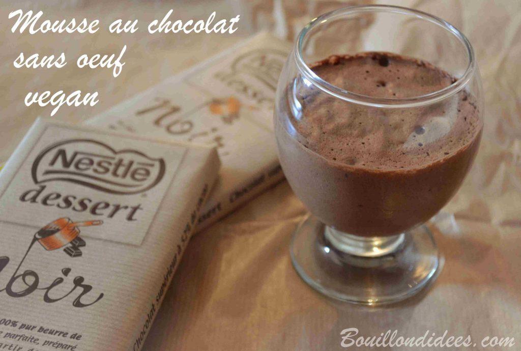 Mousse au chocolat sans œuf - vegan (au jus de pois chiche)