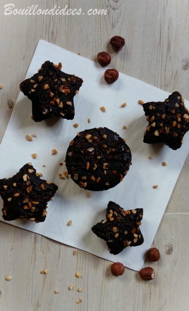 Muffins croustillants chocolat-noisettes sans GLO (sans gluten, sans lait, sans œuf), cuit à l'Omnicuiseur